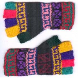 Mitainesenfants péruviens multicolors en laine acrylique
