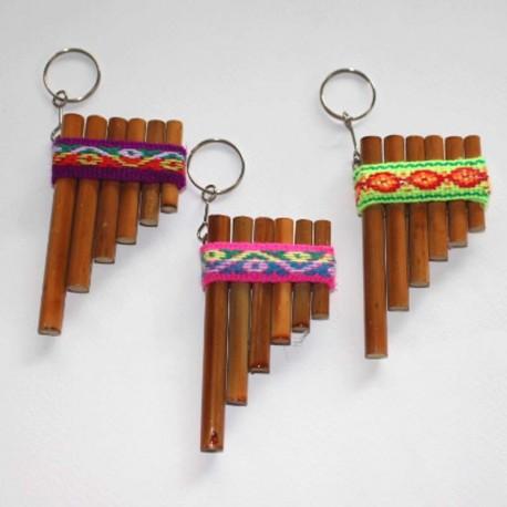 Porte clés flûtes de pan