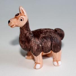 LAMA animaux en céramique peints main au Pérou