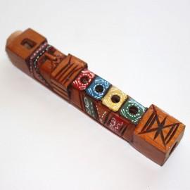 Flûte tarka mini bolivienne en bois peint