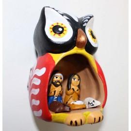 CRECHE HIBOUX Crèche en céramique