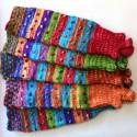 Guêtres du Pérou en laine acrylique colorée
