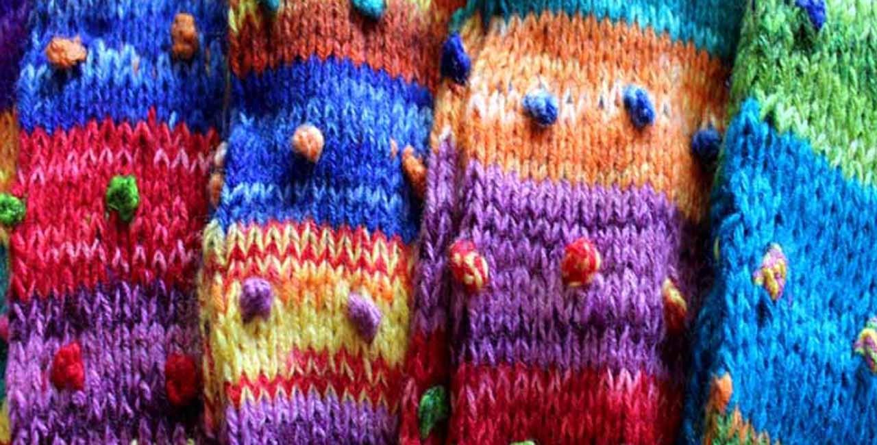 Guetres du Pérou en laine colorées