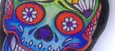 Boucles d'oreilles têtes de mort